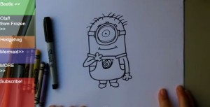 How to Draw a Minion (video 1)