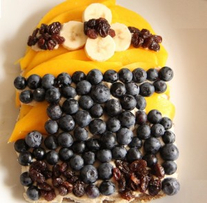 Minion Recipe - Mango Blueberry Tart