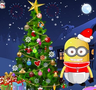 Play Baby Minion Tree Decoration Game Planetminion