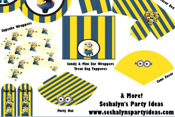 photo about Printable Minion Template named Do-it-yourself Style Den Minion Birthday Bash With Absolutely free Printables