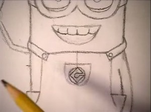 How to Draw a Minion (video 2)