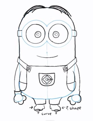 Draw Dave the Minion - PlanetMinion Minion Drawing Dave
